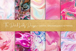 Pink Marble & Swirl Backgrounds