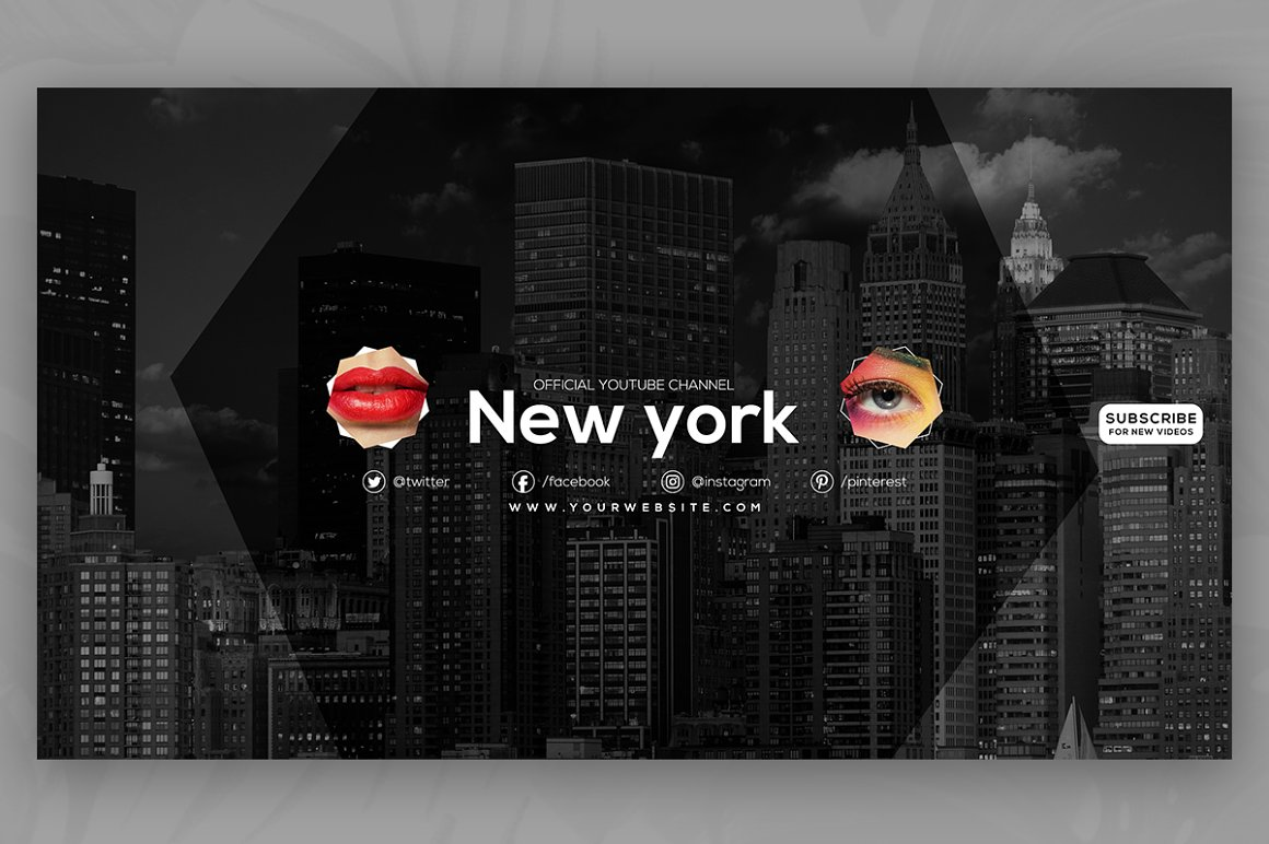 10 Youtube Channel Art Banners vol10