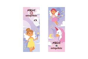 Fairy girl vector magic faery