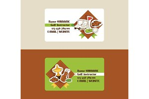 Golf vector business card golfers