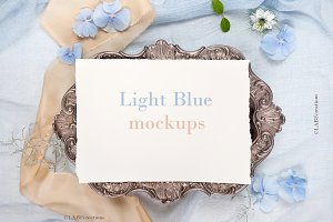 -50% OFF Light blue mockups