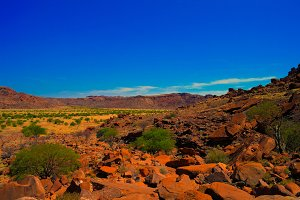 Twyfelfontein archaeological site in