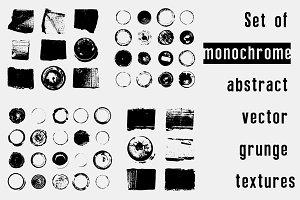 Set of vector grunge textures.