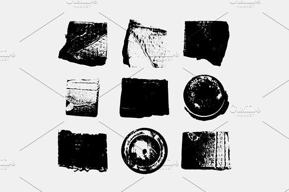 Grunge Camera Vector : Set of vector grunge textures. ~ textures ~ creative market