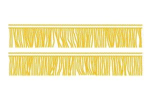 Gold fringe. Seamless decorative