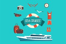 Tourism concept image sea vacation