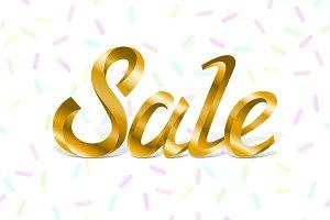 Sale vector lettering