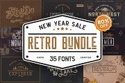 Retro Vintage Font Collection