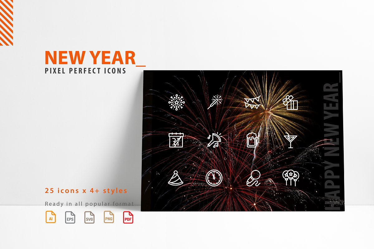 New Year Icon Set