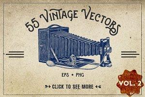 55 Vintage Vectors Graphics Vol. 2