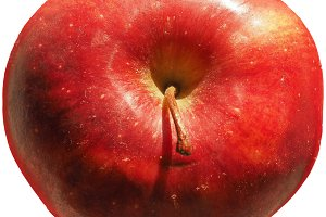 red apple fruit food isolated over w