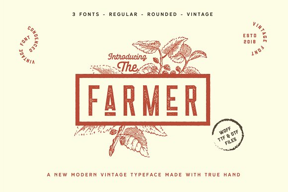 Retro Vintage Font Collection in Retro Fonts - product preview 1