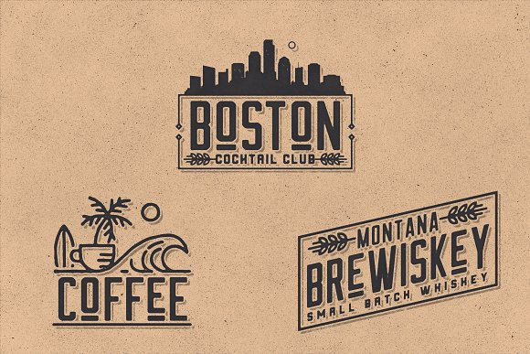 Retro Vintage Font Collection in Retro Fonts - product preview 5