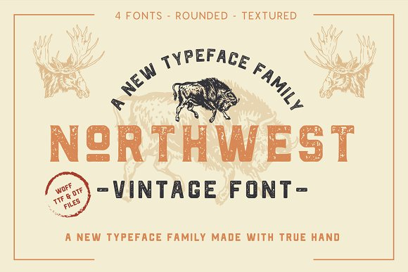 Retro Vintage Font Collection in Retro Fonts - product preview 14
