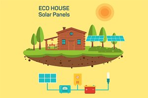 Vector eco green house