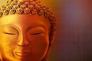 The figure of a golden Buddha