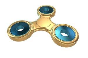 Colorful golden steel metal fidget