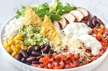 Burrito bowl on the table