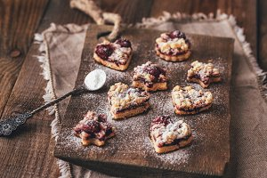 Cookies with cherry filling