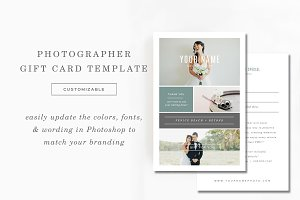 Photography Gift Card Template