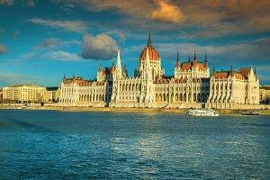 Famous Hungarian parliament