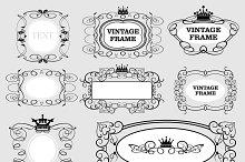 Vector frames, vintage, set