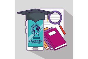 smartphone wearing cap graduation