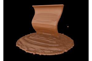 splash of melting chocolate isolated