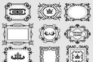 Vector frames, vintage