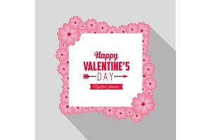happy valentine day card with