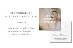 Minimal Gift Card Template