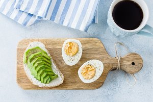 Healthy vegan breakfast concept