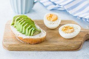 Healthy vegan breakfast concept.