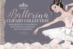 Grand Ballerina Clipart Collection