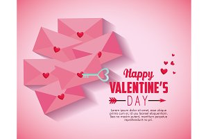 happy valentine day with love card