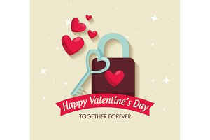 valentine celebration with padlock