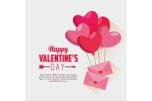 valentine card message with hearts