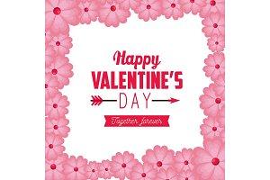 happy valentine day celebration with