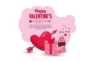 valentine card message and heart