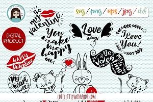 Valentine SVG, DXF, EPS, PNG, JEPG