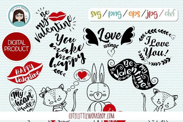 Valentine Svg Dxf Eps Png Jepg Pre Designed Photoshop Graphics Creative Market
