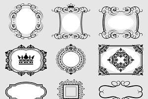 Vintage frame, frame vector