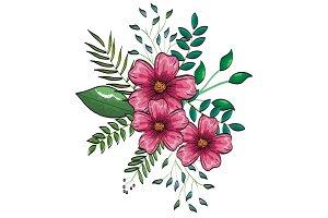 floral decoration vintage style