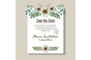 floral decoration flyers postcards