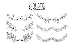 rustic set wreaths icons