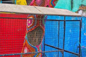 Landmark colorful El Caminito quarte