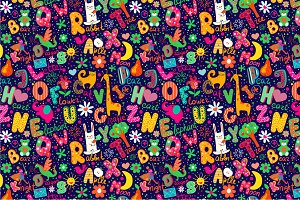 "Pattern ""Colorful alphabet"""