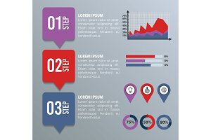 business infographic template icons