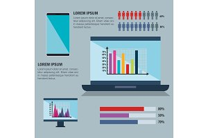 technology and business infographic