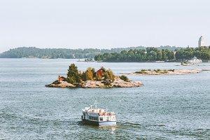 Cruise ship sailing in Baltic sea